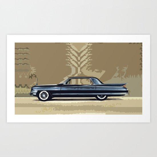 1961 Cadillac Fleetwood Sixty-Special Art Print