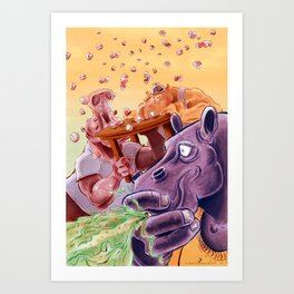 FEED THE HIPPOS Art Print