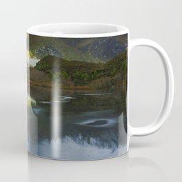 Sun spot light on Diamond Lake Coffee Mug
