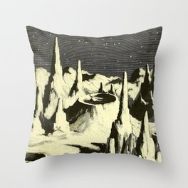 Flammarion - The atmosphere - description of the great phenomena of nature - 1873 Space Landscape Throw Pillow