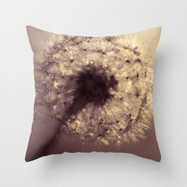 dandelion gold Throw Pillow