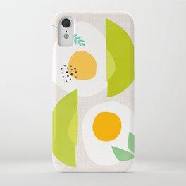 Minimalist Avocado and Eggs iPhone Case