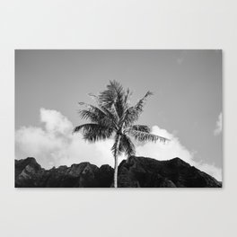 Monochrome Hawaii II Canvas Print