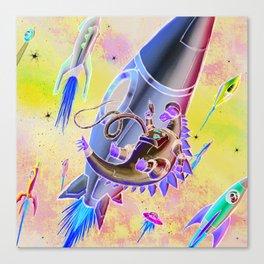 Dinosaurs and Rocketships Canvas Print