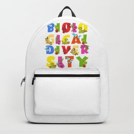 Biodiversity, Safe Life on Earth Gift for Earth Day print Backpack