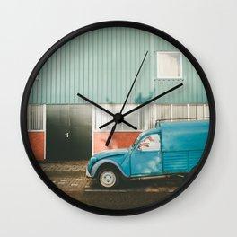 Old Citroen in Noord Amsterdam Wall Clock