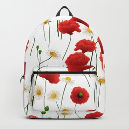 Poppies and daisies Backpack