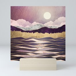 Lunar Waves Mini Art Print