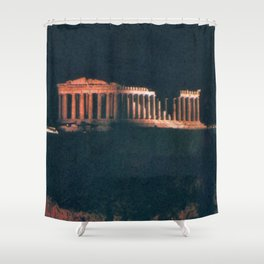 Parthenon at Night Shower Curtain