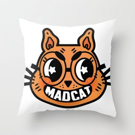 MADCAT 2 Throw Pillow