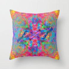 Flower Trip-Sir Parker Throw Pillow