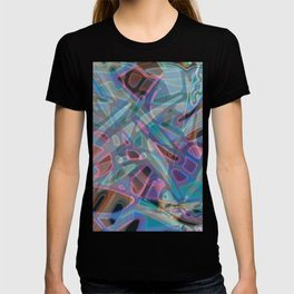 Colorful Abstract Stained Glass G302 T-shirt