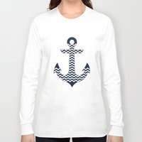 anchor Long Sleeve T-shirts featuring Anchor by Paula Belle Flores