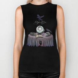 Dark Shadows Summon Edgar Allan Poe Biker Tank