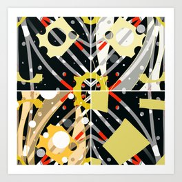 Cheezy abstract Art Print