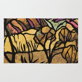 """""""A Mile Out of Alice Spings"""" Margaret Preston Rug"""