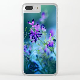 Forest Echoes Clear iPhone Case