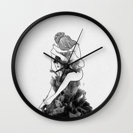 I find peace in your hug. Wall Clock