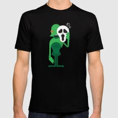 Swamp Thing / Ghostface LARGE Mens Fitted Tee Black