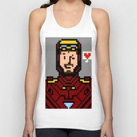 tony stark Tank Tops featuring tony stark by saltyking