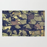 walking dead Area & Throw Rugs featuring The Walking Dead by Ale Giorgini