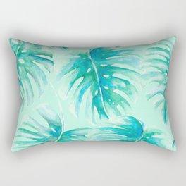 Paradise Palms Mint Rectangular Pillow