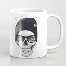 Black Skull in a hat Coffee Mug