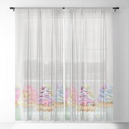 Beautiful Food by Deva Williamson Sheer Curtain