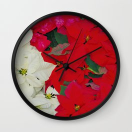 Poinsettias, Olbrich 5334 Wall Clock