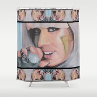 poker Shower Curtains featuring Poker Face by LilKure