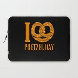 I Love Pretzel Day Funny Baker Pun Laptop Sleeve