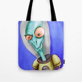 Pulpy pop retro Space Alien Tote Bag
