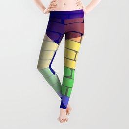 Gay Rainbow Wall Scotland Flag Leggings