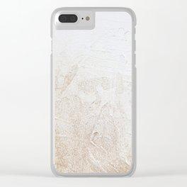 Gold Glitter Detail Clear iPhone Case