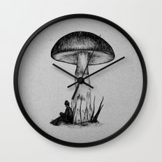 Under the Toadstool Wall Clock