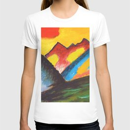 'Loneliness,' A Sunset Mountain Landscape by Alexej von Jawlensky T-shirt