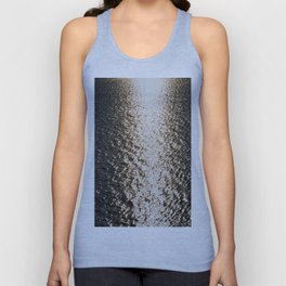 the sea at sunset Unisex Tank Top