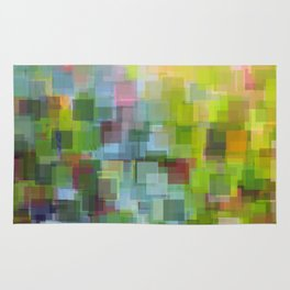 Abstract Grassy Field Rug