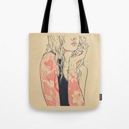 art nouveau recrafted Tote Bag