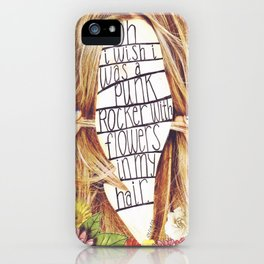 punk rocker iPhone Case