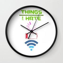 Hate A Loading Signal Wall Clock