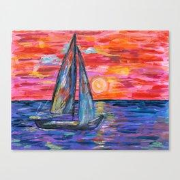 Sail at Dusk Canvas Print