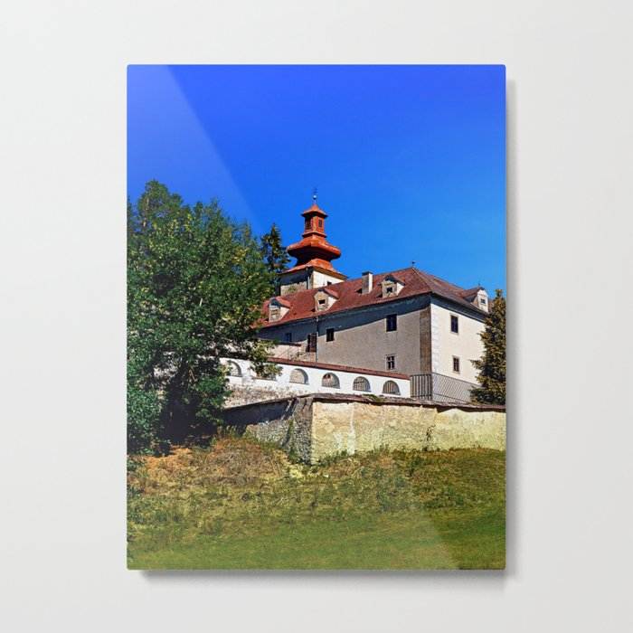 Waldenfels castle, south side Metal Print
