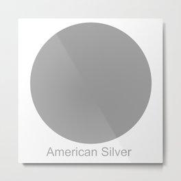 American Silver Metal Print