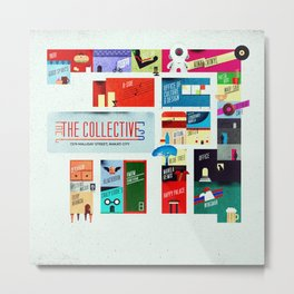 The Collective Map Metal Print