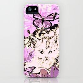 Frieda's Baby Cats in Pink iPhone Case