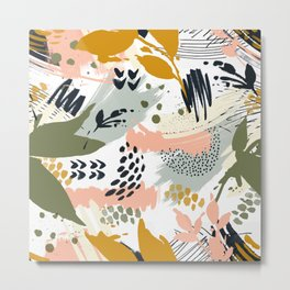 Abstract strokes still life Metal Print