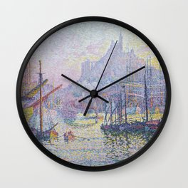 View of the Port of Marseilles Wall Clock