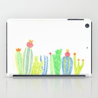 cacti iPad Cases featuring Cacti by mirtle