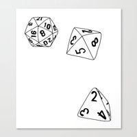 dungeons and dragons Canvas Prints featuring Dungeons and Dragons Dice by mrcarter